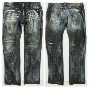 New ROBIN'S JEAN sz 42 Biker Slim Straight Jeans